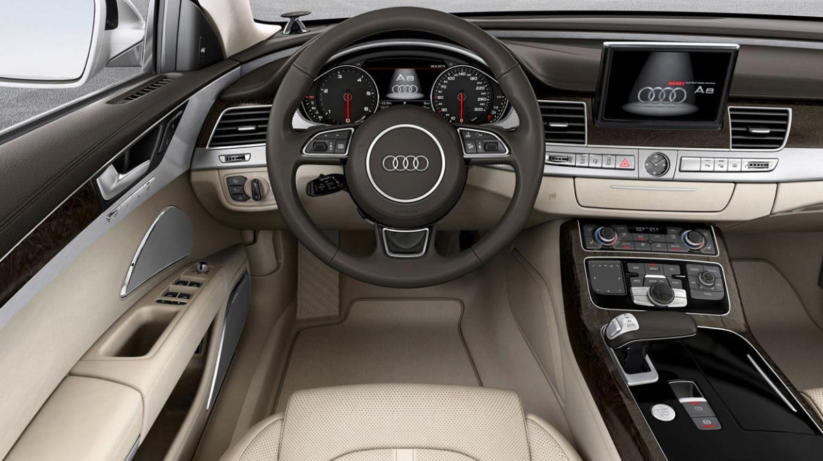 Audi A8 car hire Interior