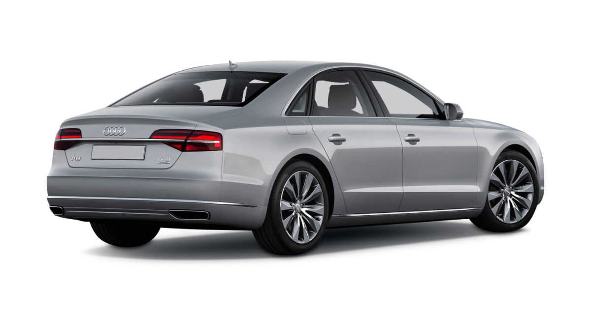 Audi A8 car hire Rear View