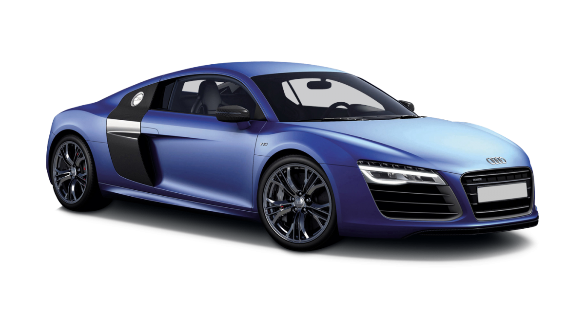 Audi R8 V10 Coupe car hire Front View