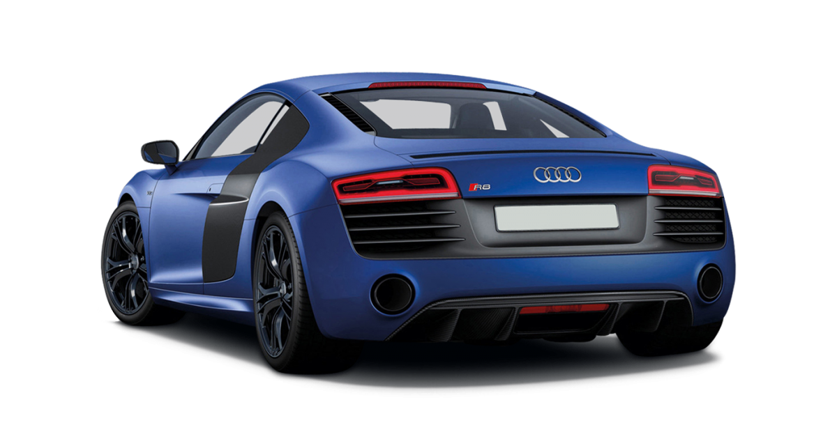 Audi R8 V10 Coupe car hire Rear View