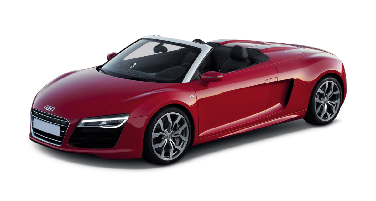 Audi R8 V8 Spyder car hire and Audi R8 leasing
