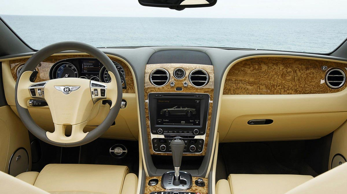 Bentley Continental GT Convertible car hire interior