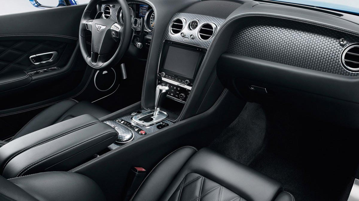 Bentley Continental GT Speed car hire interior