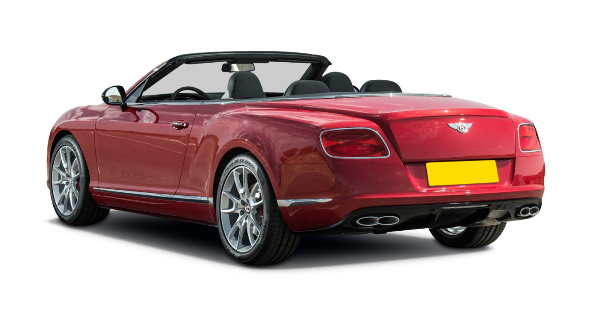 Bentley Continental GT Convertible car hire rear view