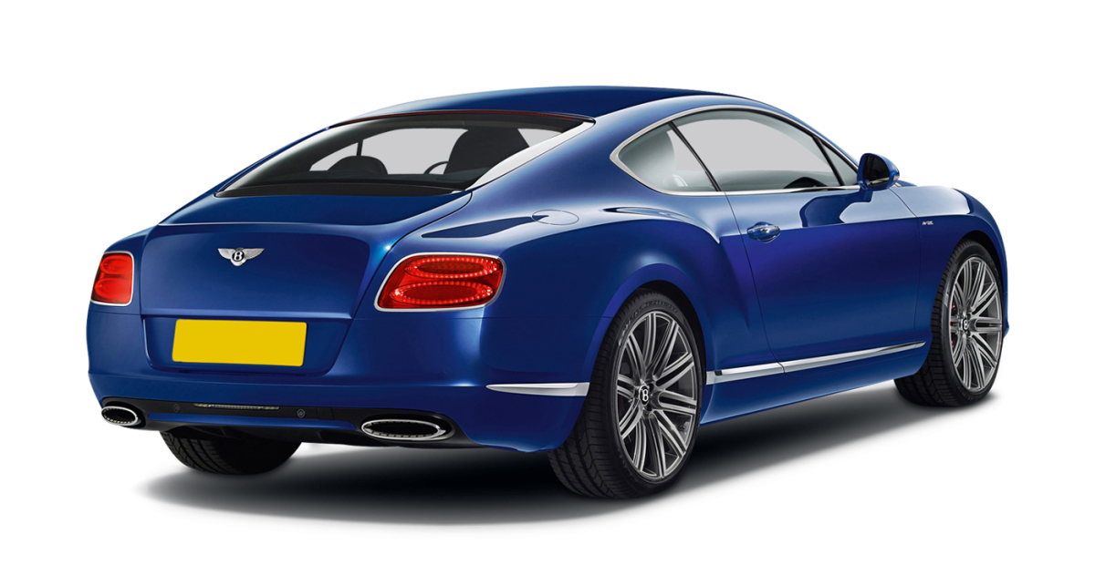 Bentley Continental GT Speed car hire rear view