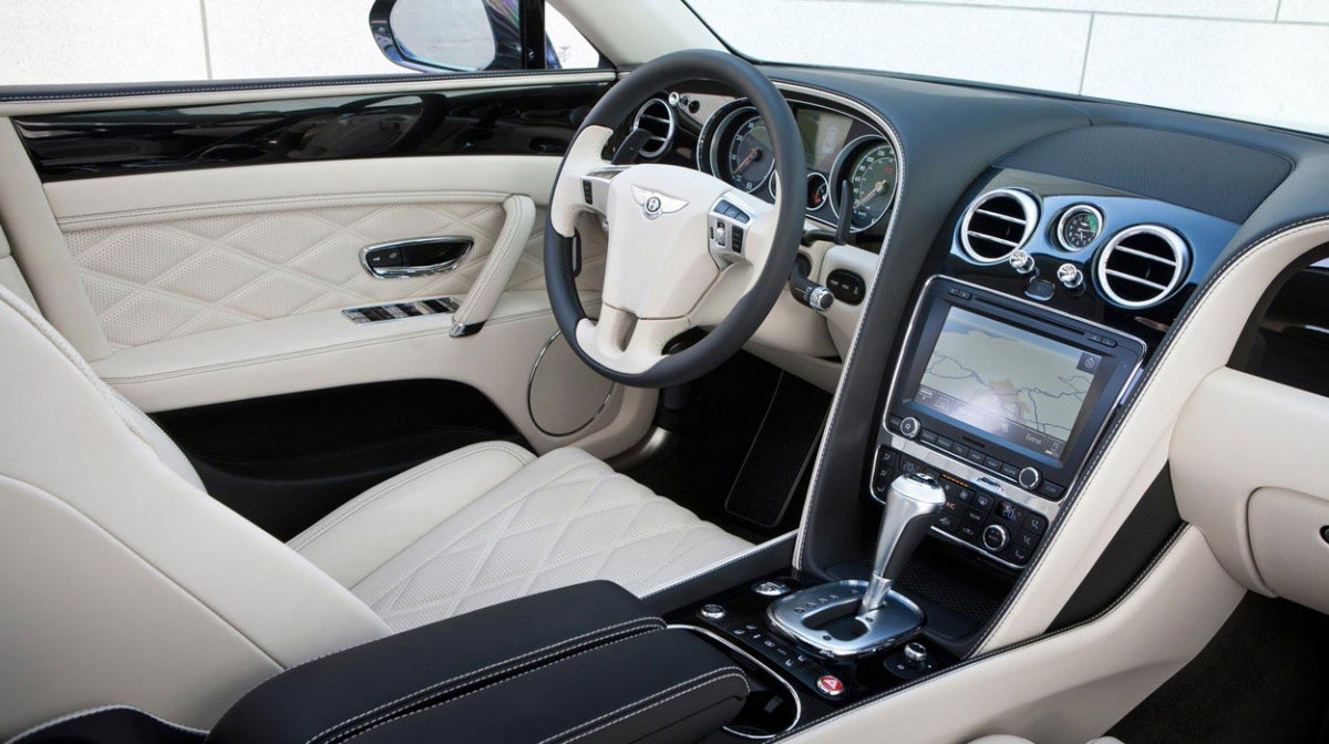 Bentley Continental Flying Spur car hire Interior