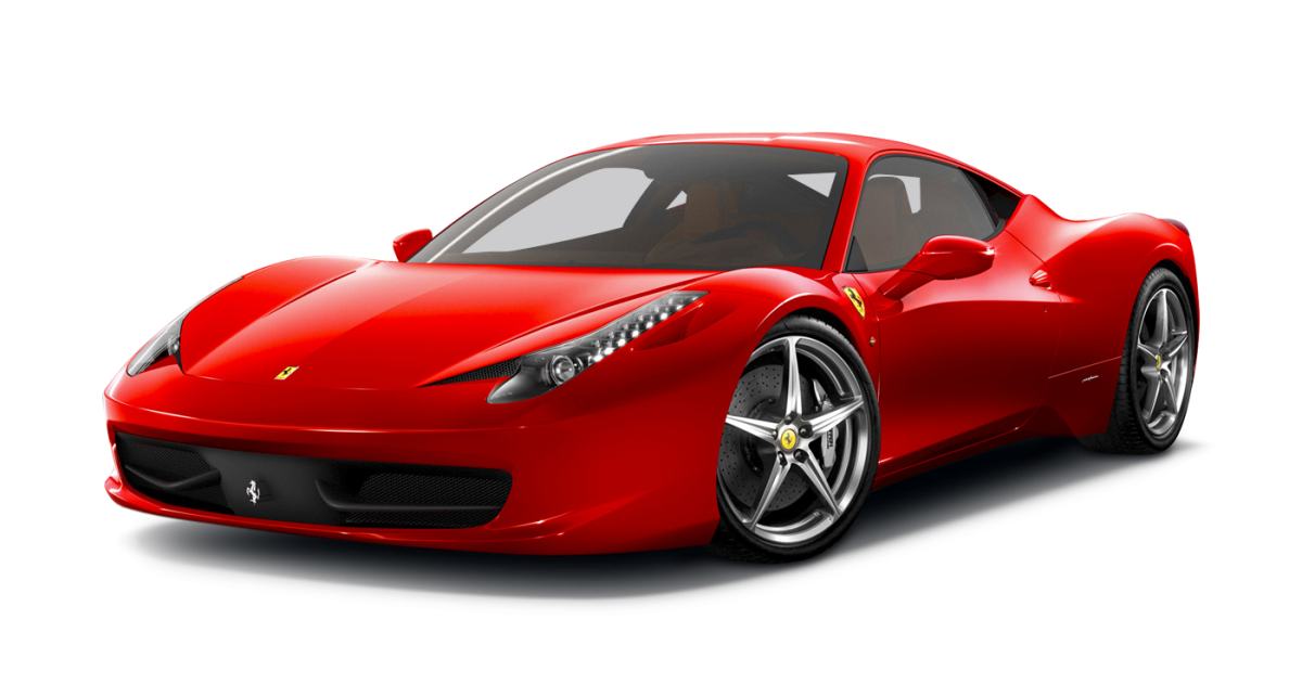 Ferrari 458 Italia car hire front view