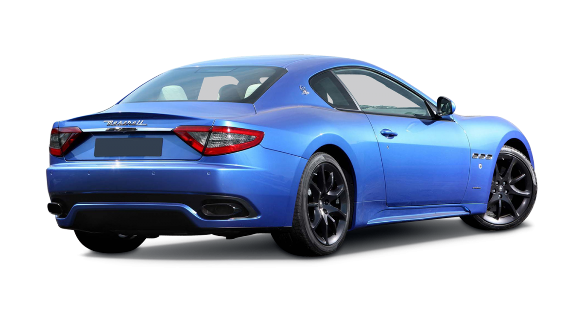 Maserati Gran Turismo car hire rear view