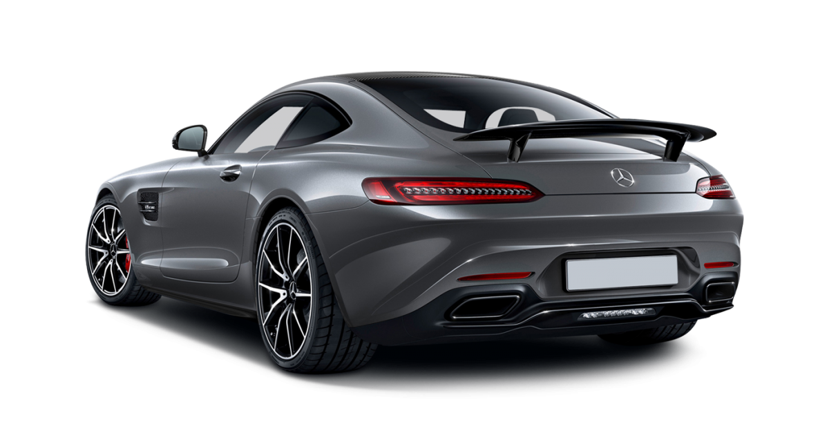 Mercedes AMG GT-S car hire rear view