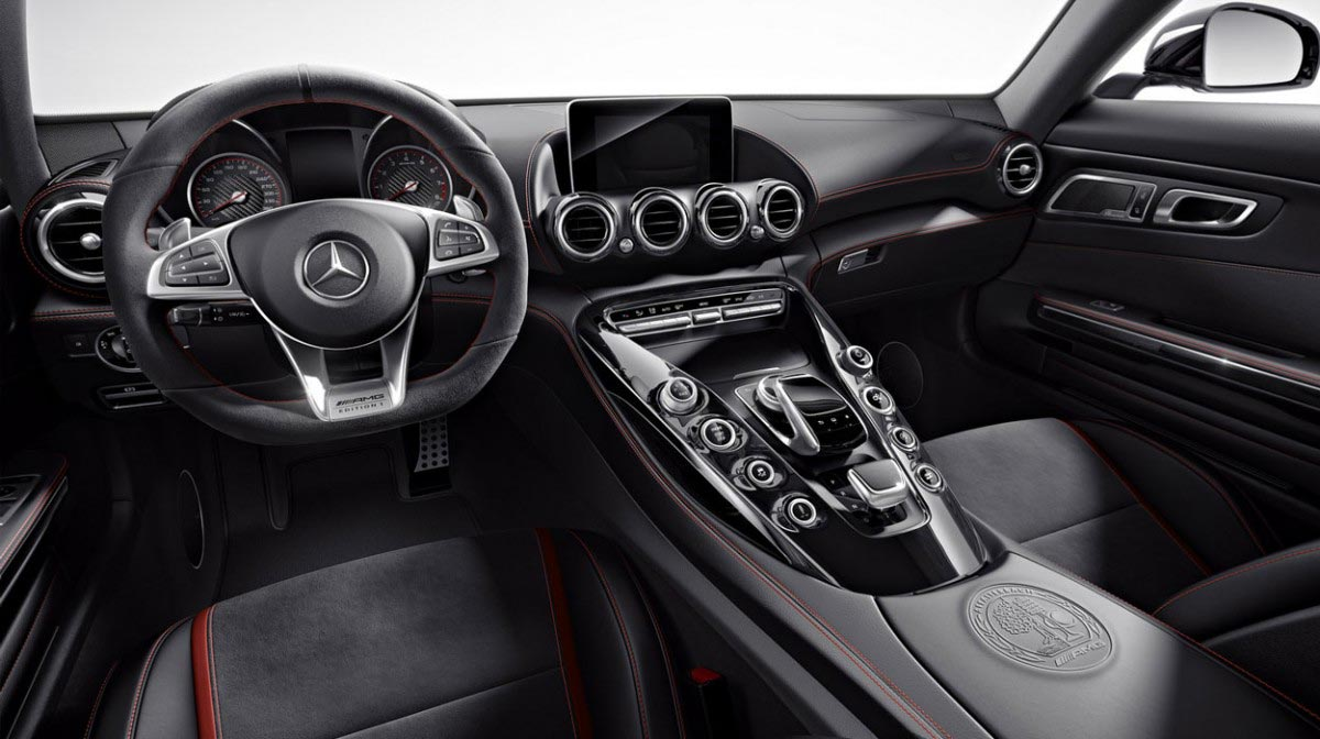 Mercedes AMG GT-S car hire interior