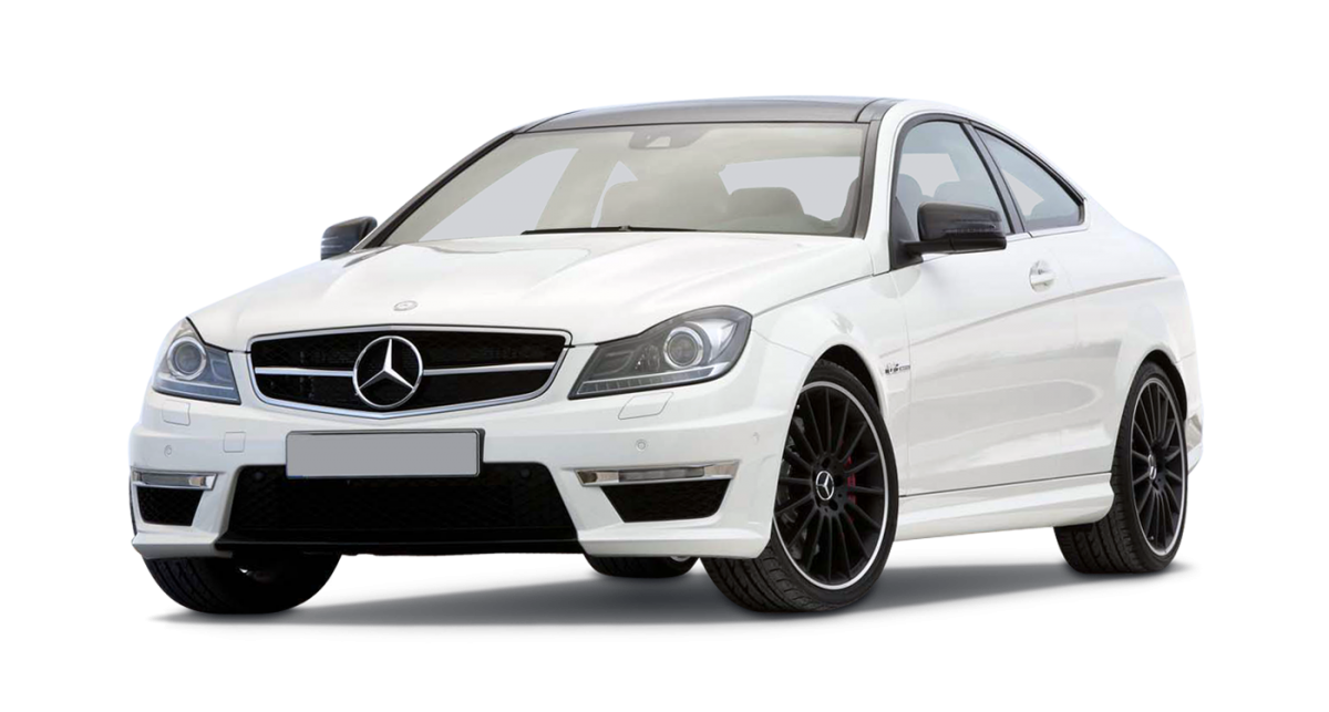 Mercedes C63 AMG Coupe car hire front view