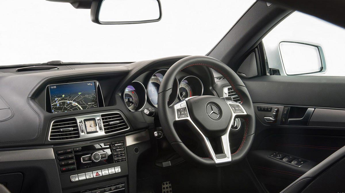 Mercedes E-Class Cabriolet car hire interior