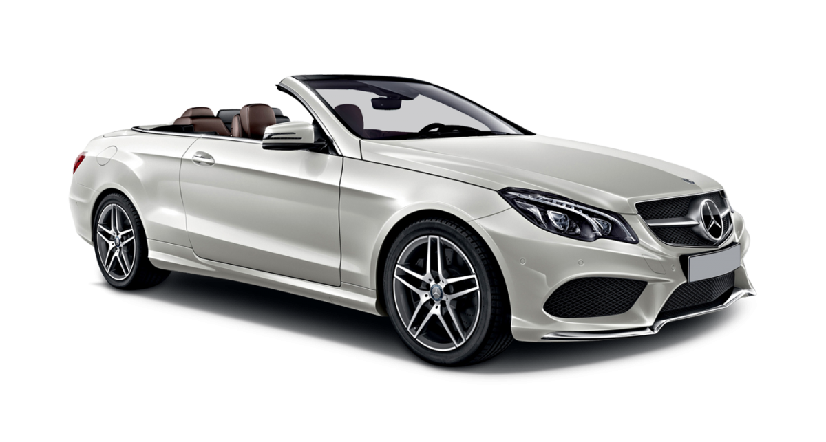 Mercedes E-Class Cabriolet car hire front view