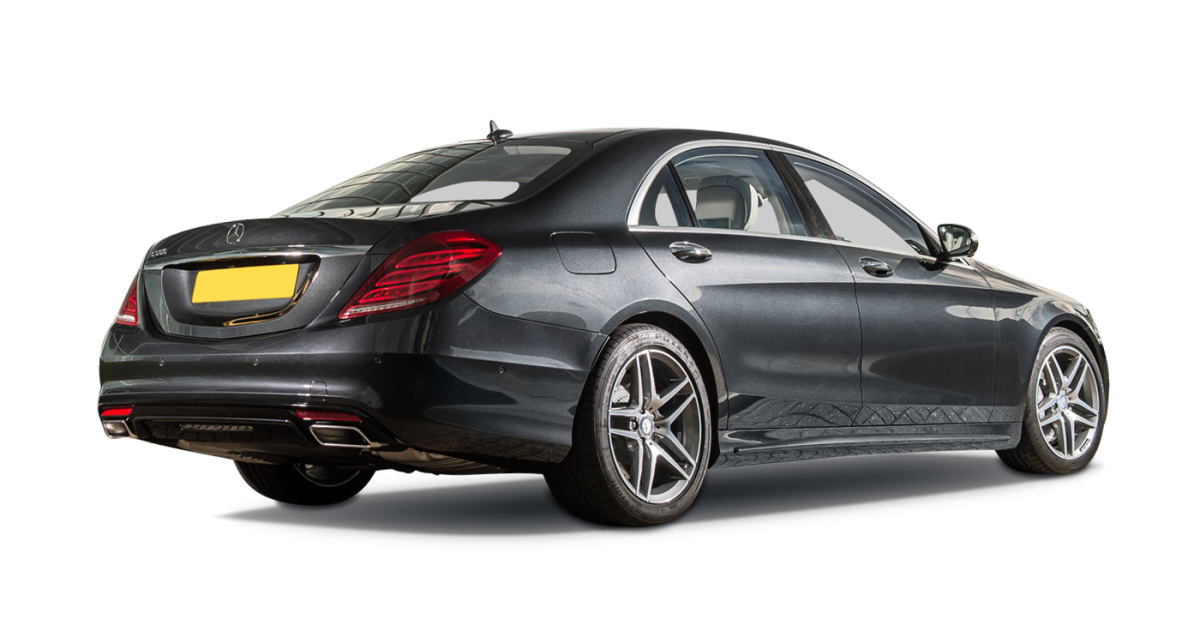 Mercedes S-Class car hire rear view