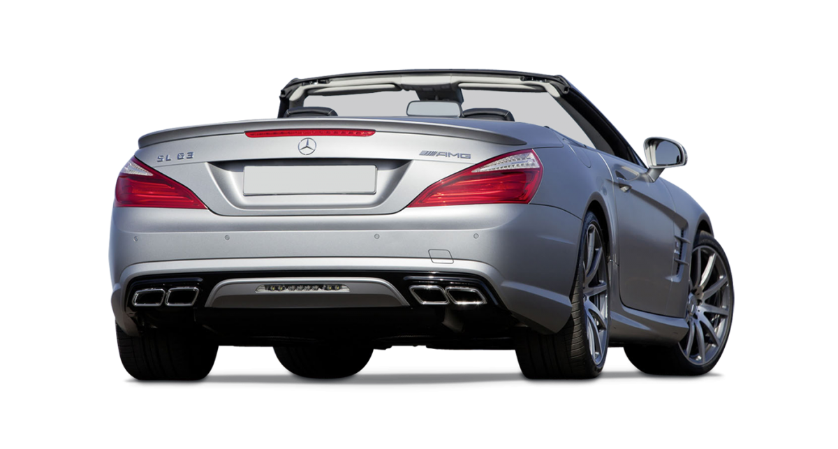 Mercedes SL car hire rear view