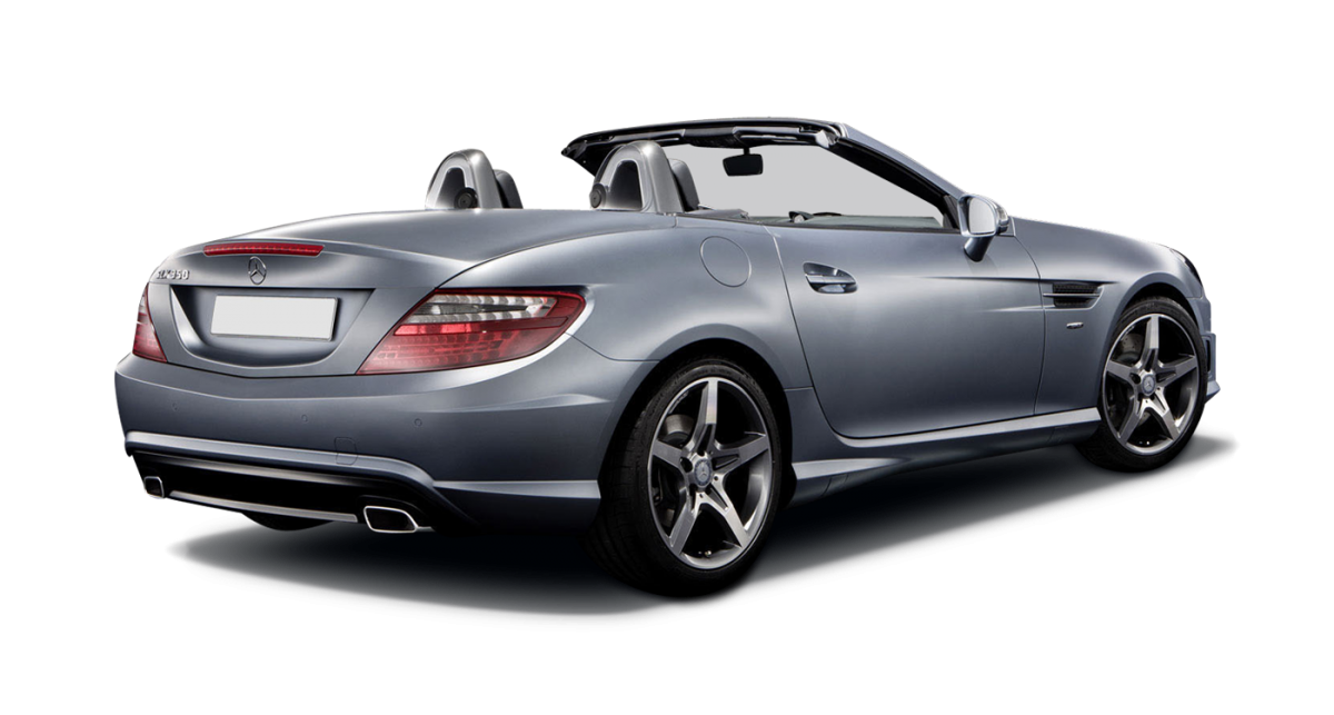 Mercedes SLK car hire rear view