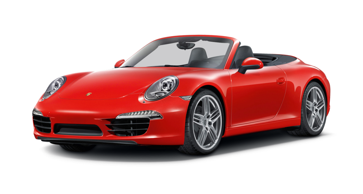 Porsche Carrera 2 Cabriolet car hire front view