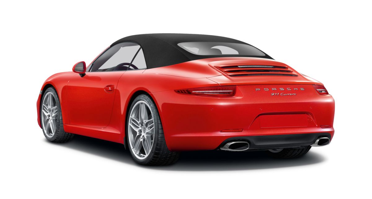 Porsche Carrera 2 Cabriolet car hire rear view