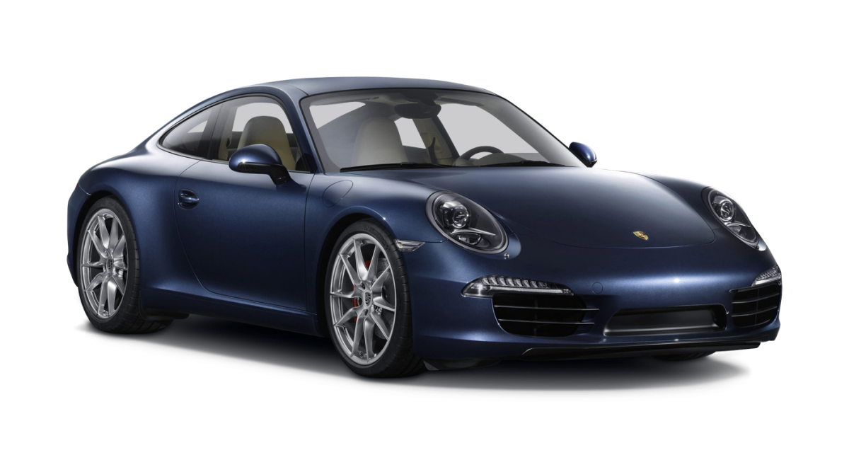 Porsche 911 Carrera 2 car hire front view