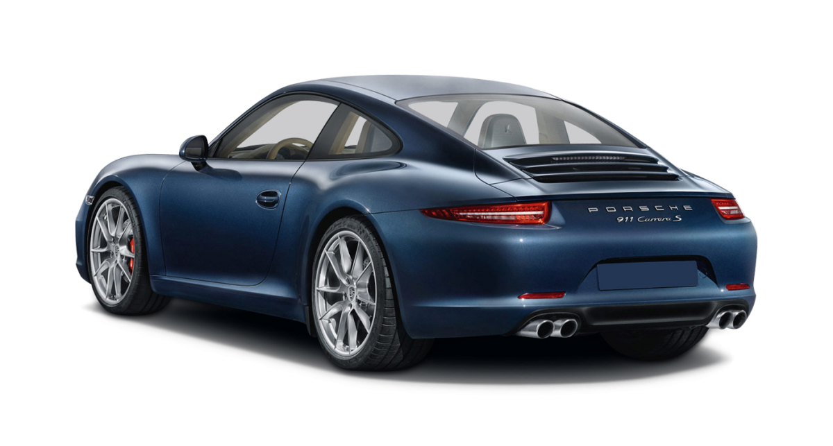 Porsche 911 Carrera 2 car hire rear view