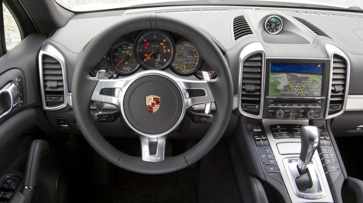 Porsche Cayenne car hire interior