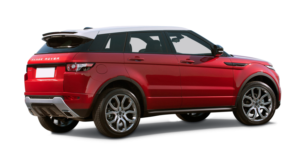 Range Rover Evoque car hire side view