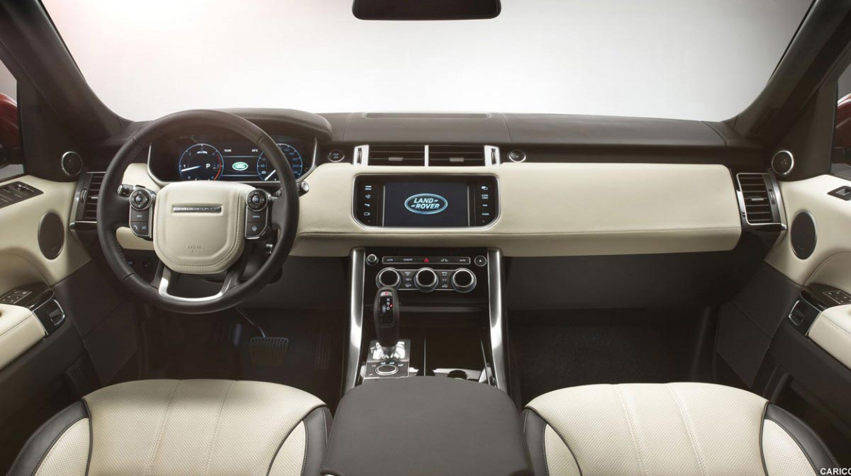 Range Rover Sport car hire interior