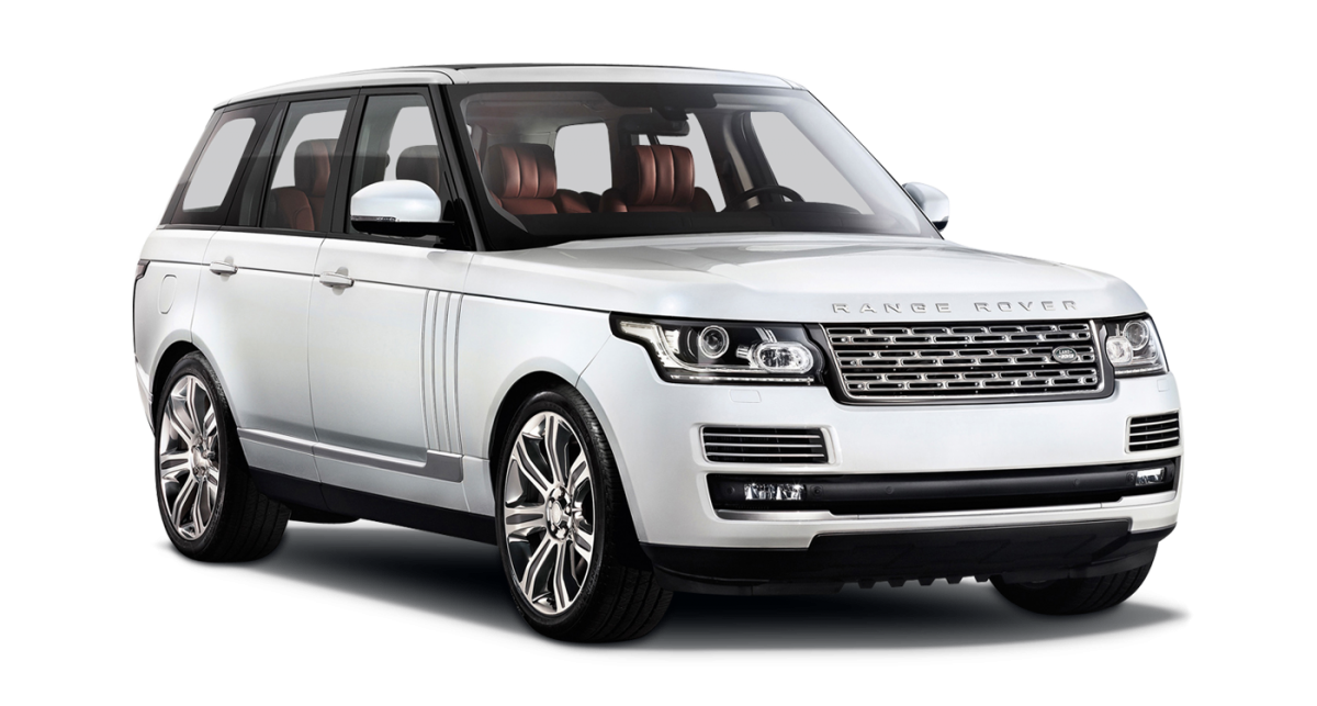 Range Rover Vogue car hire front view