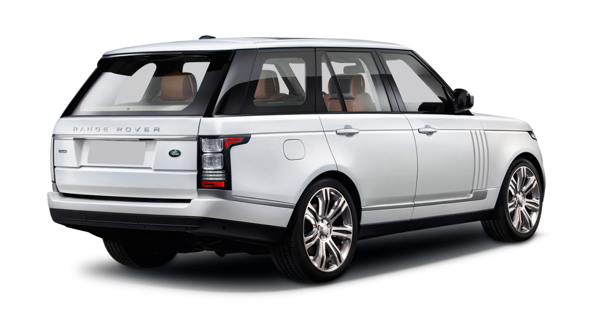 Range Rover Vogue car hire rear view