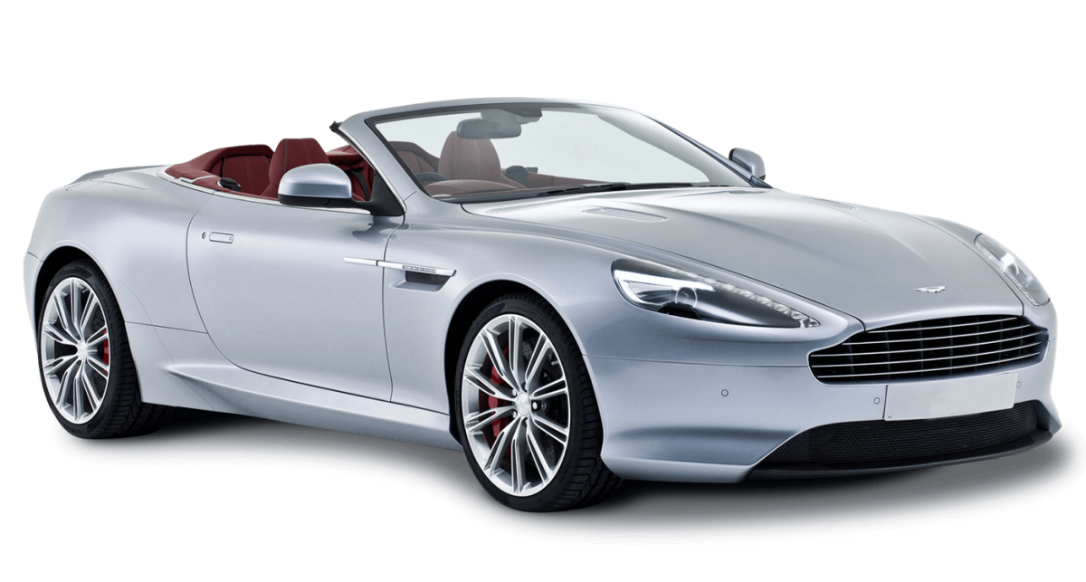 Aston Martin DB9 Volante Car Hire Front View